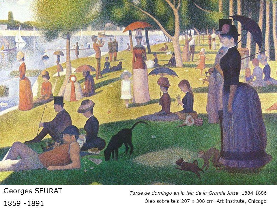 Georges SEURAT 1859 -1891 Tarde de domingo en la isla de la Grande Jatte 1884-1886 Óleo sobre tela 207 x 308 cm Art Institute, Chicago