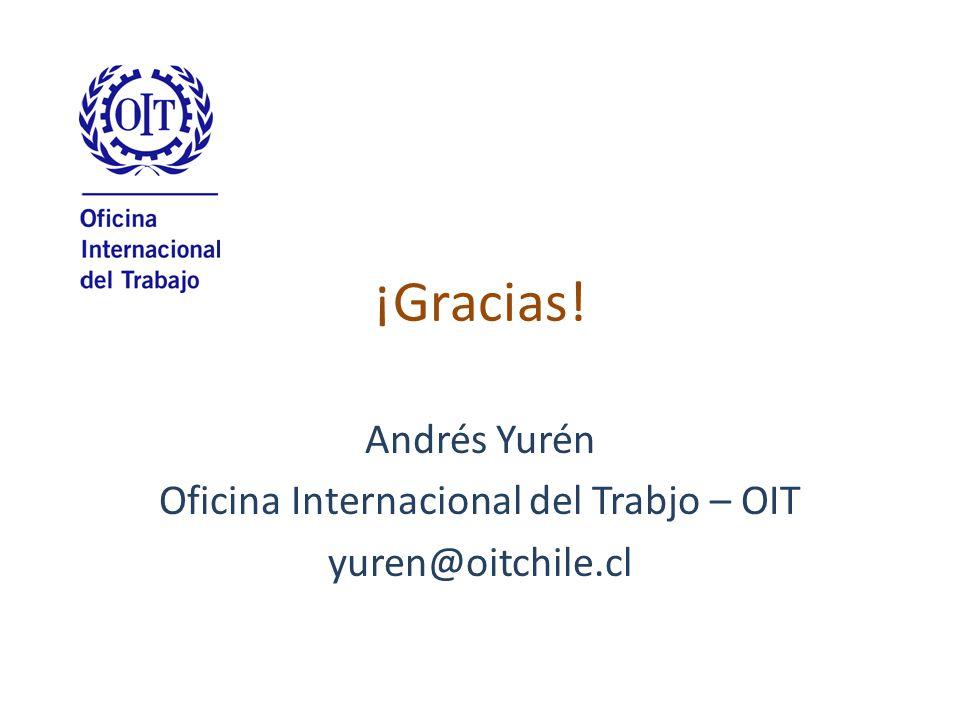 ¡Gracias! Andrés Yurén Oficina Internacional del Trabjo – OIT yuren@oitchile.cl