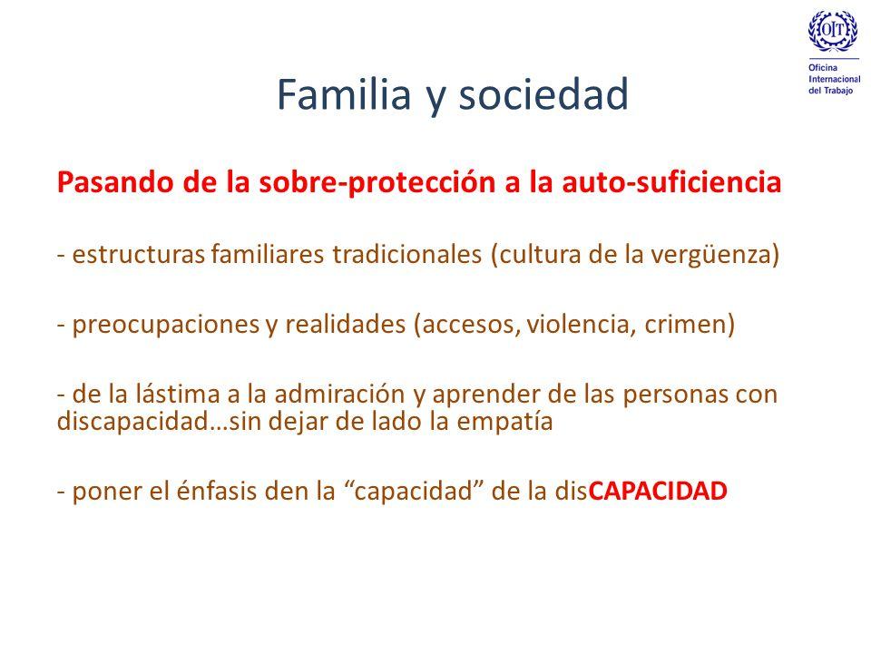 Pasando de la sobre-protección a la auto-suficiencia - estructuras familiares tradicionales (cultura de la vergüenza) - preocupaciones y realidades (a