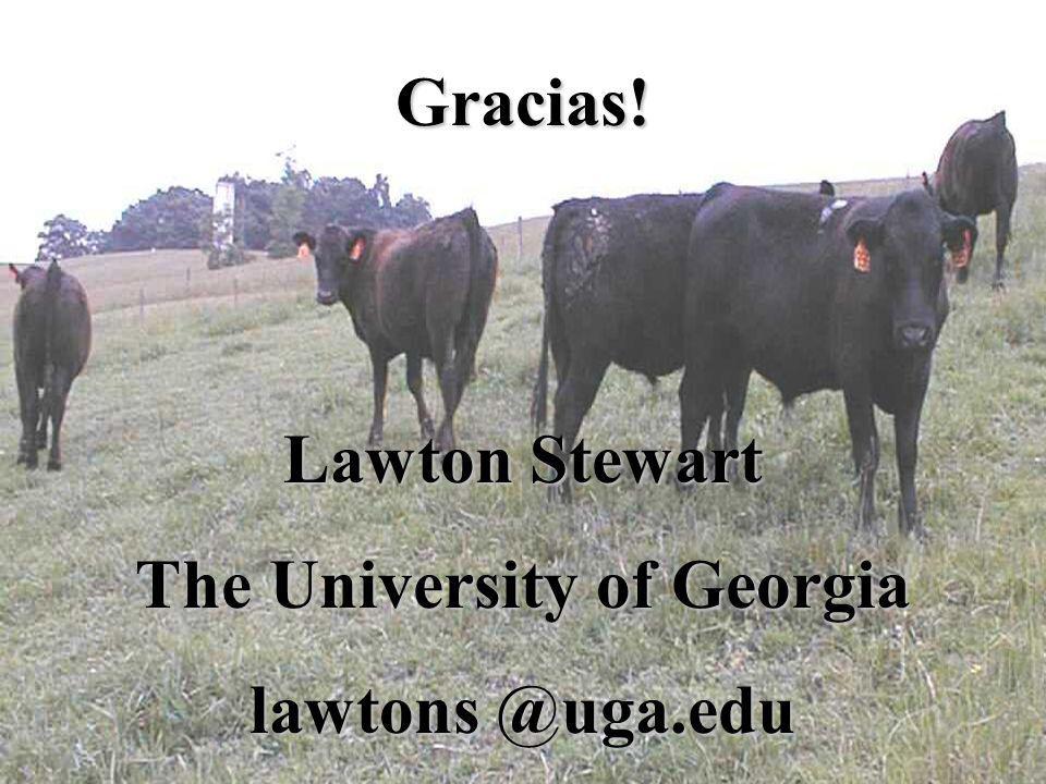 Gracias! Lawton Stewart The University of Georgia lawtons @uga.edu