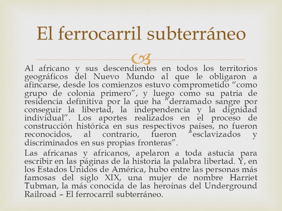 HECHOS HISTORICOS OCURRIDOS EN SUD AMERICA PROTAGONIZADOS POR HEROINAS Y HEROES PARA CONSEGUIR LOS DERECHOS CIVILES Y EL RECONOCIMIENTO AL PAPEL QUE DESEMPEÑARON LOS AFRICANOS Y SUS DESCENDIENTES QUE SIRVIERON A LA NACION Y MURIERON POR ELLA Y MOTIVARON A DESPEJAR EL CAMINO DE LA LIBERTAD QUE HA COSTADO SANGRE Y VIDAS.