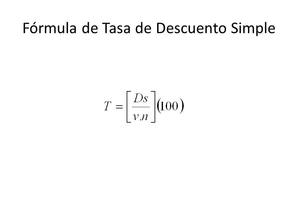 Fórmula de Tasa de Descuento Simple
