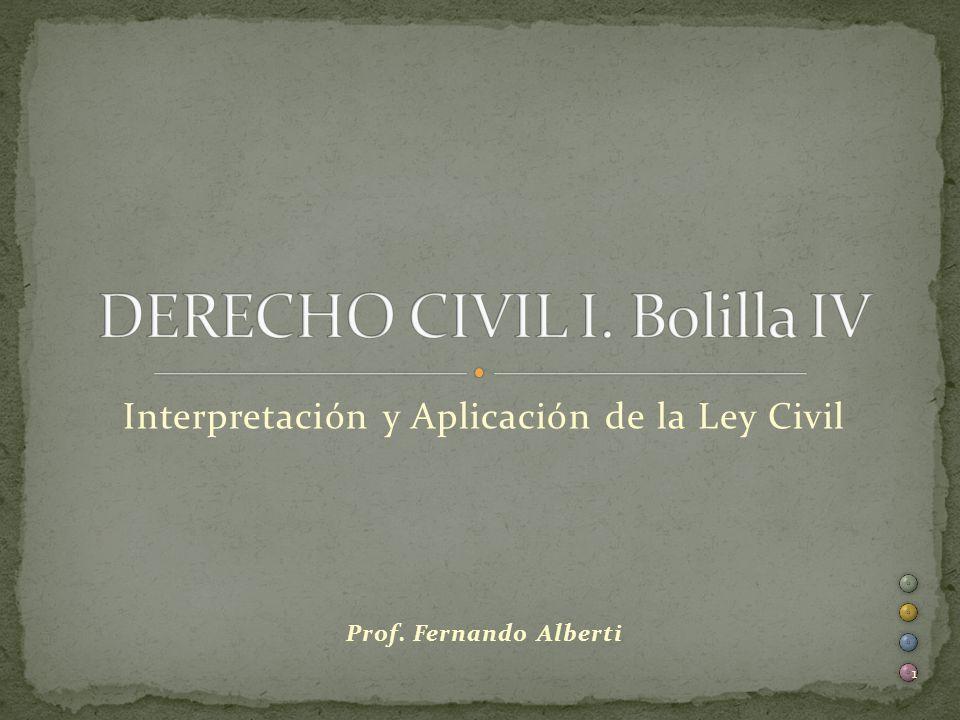 Interpretación y Aplicación de la Ley Civil Prof. Fernando Alberti 1