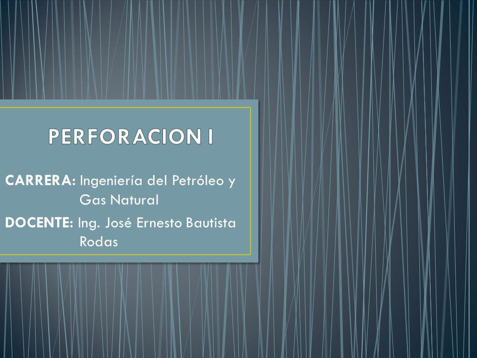 CARRERA: Ingeniería del Petróleo y Gas Natural DOCENTE: Ing. José Ernesto Bautista Rodas