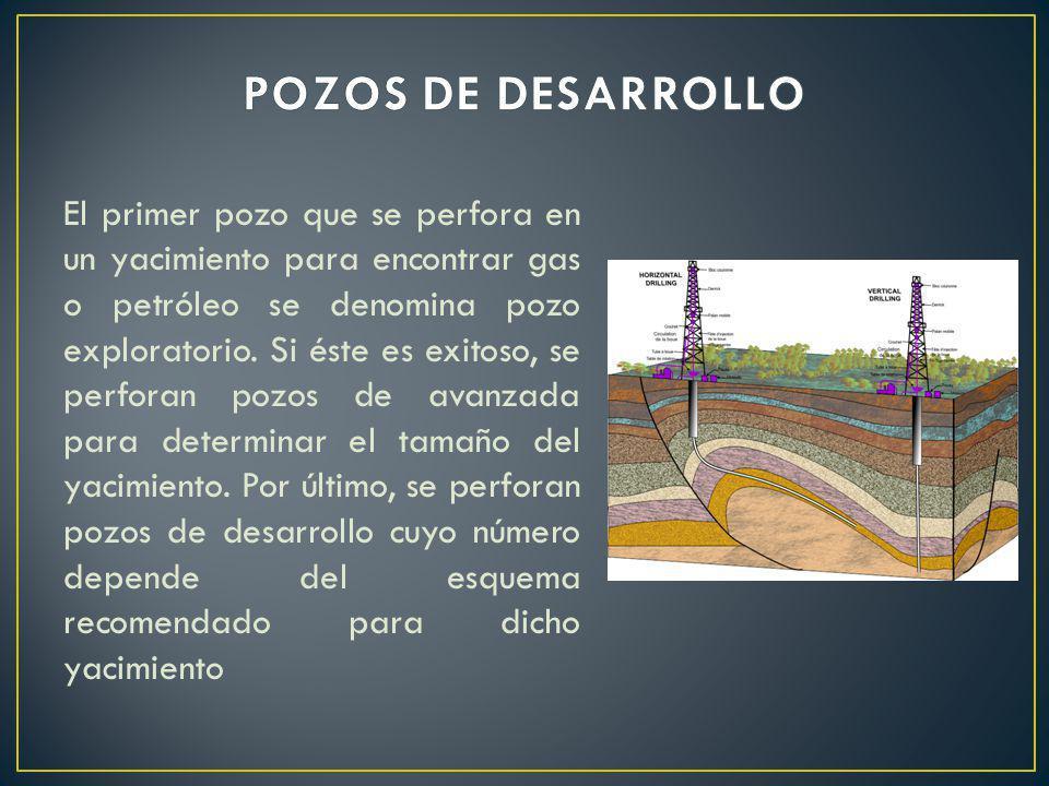 El primer pozo que se perfora en un yacimiento para encontrar gas o petróleo se denomina pozo exploratorio. Si éste es exitoso, se perforan pozos de a