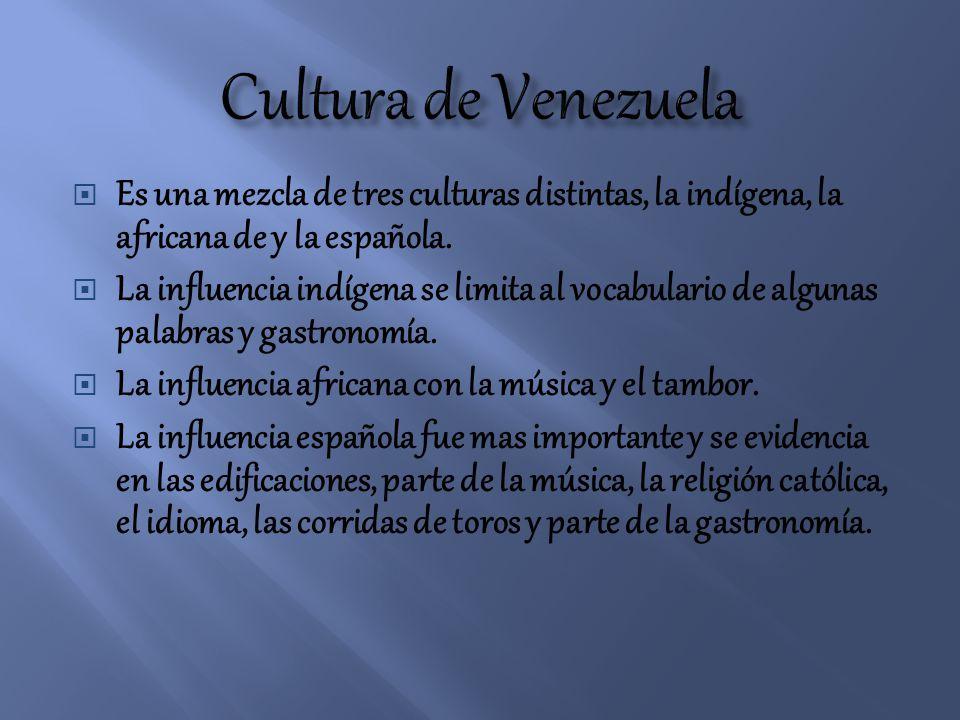 En el siglo XIX Venezuela se enriqueció por otras corrientes culturales de origen antillano y europeo Las grandes ciudades fueron influenciadas por manifestaciones culturales de origen estadounidense y de la nueva inmigración de origen español, italiano y portugués aumentando el mosaico cultural.