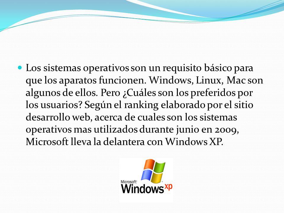 Los sistemas operativos son un requisito básico para que los aparatos funcionen. Windows, Linux, Mac son algunos de ellos. Pero ¿Cuáles son los prefer