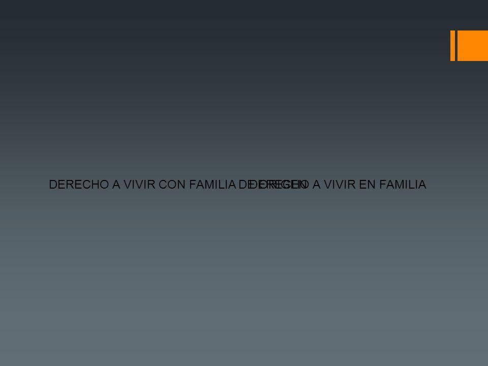 DERECHO A VIVIR EN FAMILIADERECHO A VIVIR CON FAMILIA DE ORIGEN