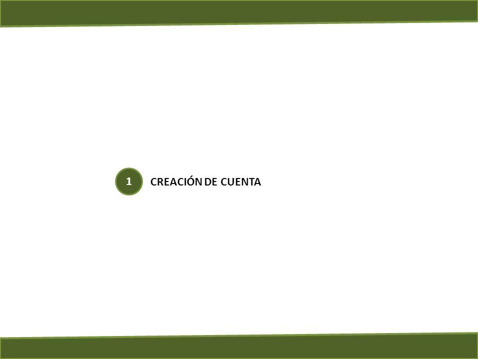 CREACIÓN DE CUENTA 1