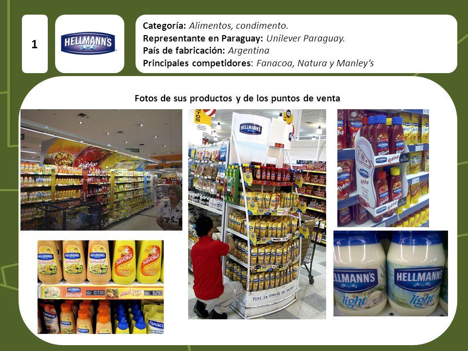 Categoría: Alimentos, condimento.Representante en Paraguay: Unilever Paraguay.