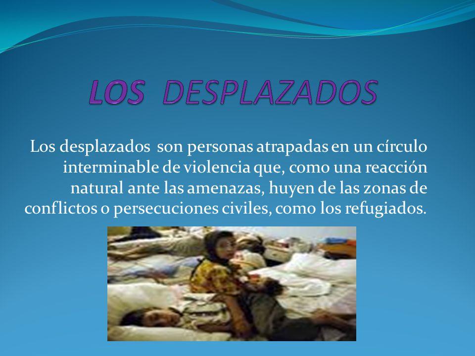 La mayoría de los desplazados por la violencia en Colombia son menores de 18 años, es decir, niños y jóvenes inmersos en la prolongada tragedia del desarraigo forzado por decisión de los señores de la guerra y de la muerte.