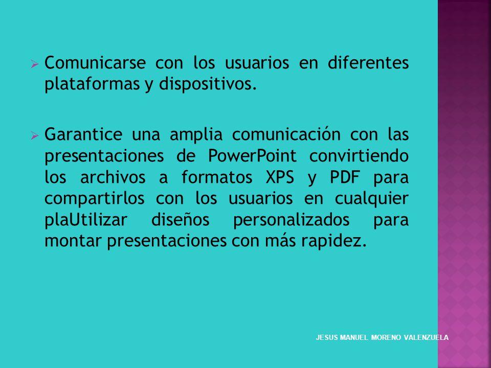 Comunicarse con los usuarios en diferentes plataformas y dispositivos. Garantice una amplia comunicación con las presentaciones de PowerPoint convirti