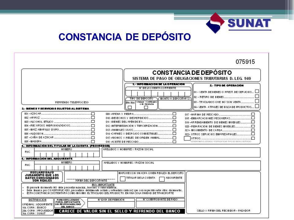 CONSTANCIA DE DEPÓSITO SUNAT