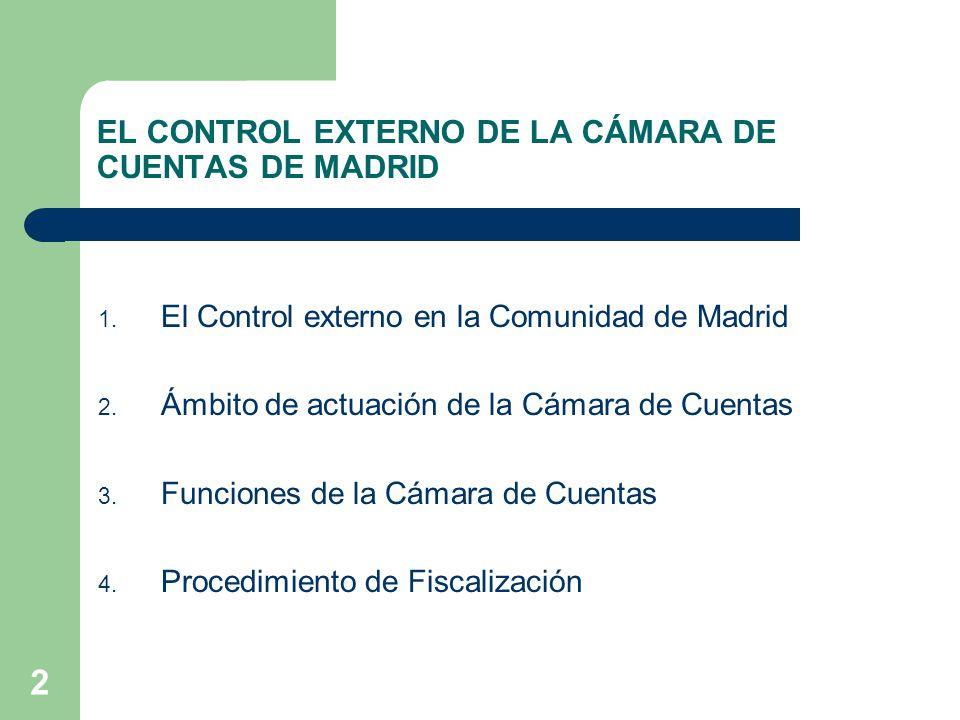 3 1.EL CONTROL EXTERNO EN LA COMUNIDAD DE MADRID Tribunal de Cuentas Constitución Española -Art.