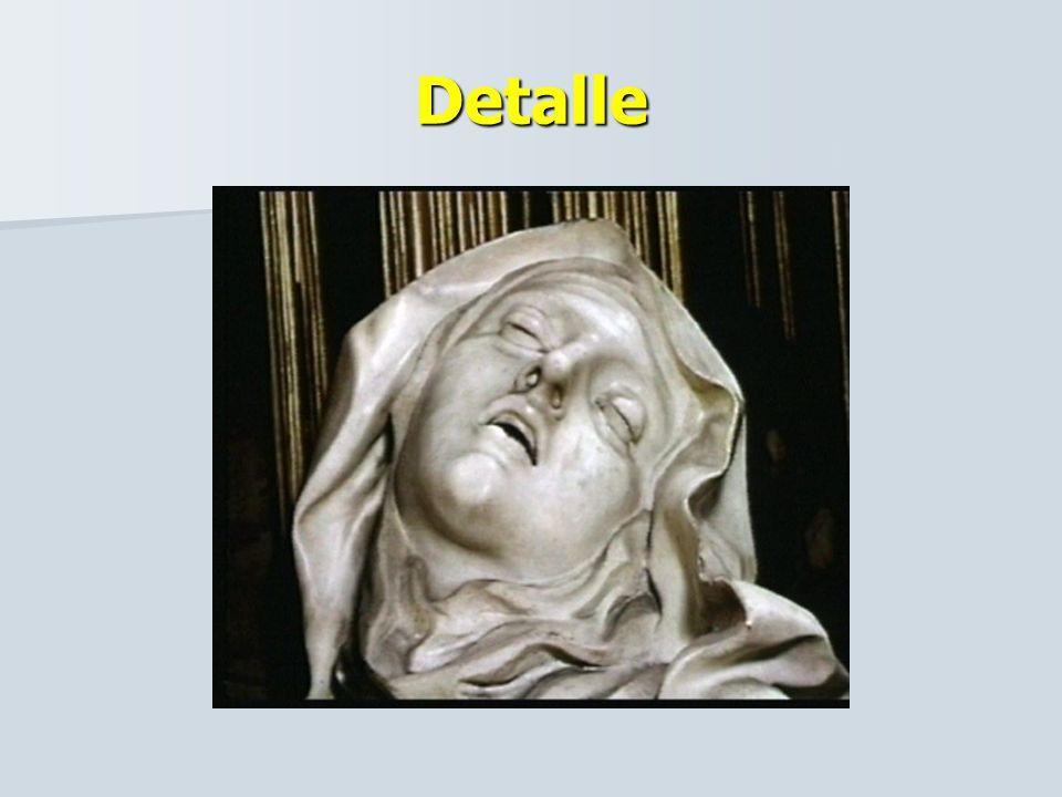 BERNINI EXTASIS DE SANTA TERESA. Representa el momento en el que un ángel le arranca el dardo del pecho. Representa el momento en el que un ángel le a