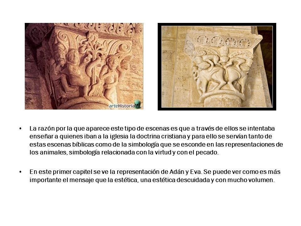 Es en el ábside central es el único espacio donde se conserva decoración escultórica exenta: a la izquierda, S.
