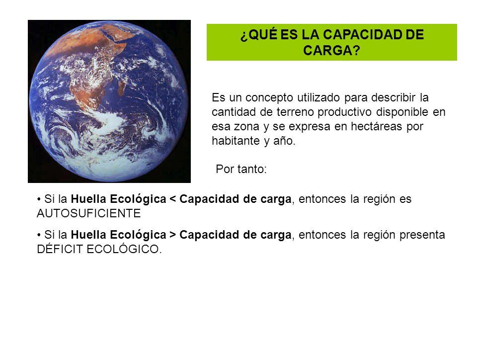 ¿QUÉ ES LA CAPACIDAD DE CARGA? Es un concepto utilizado para describir la cantidad de terreno productivo disponible en esa zona y se expresa en hectár