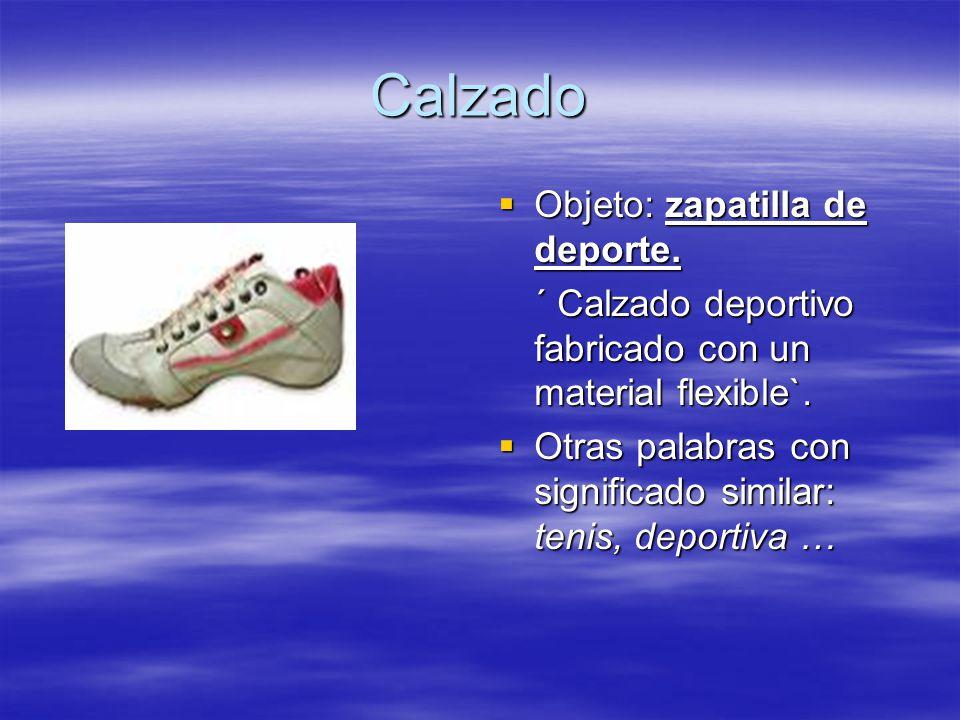 Calzado Objeto: zapatilla de deporte.Objeto: zapatilla de deporte.