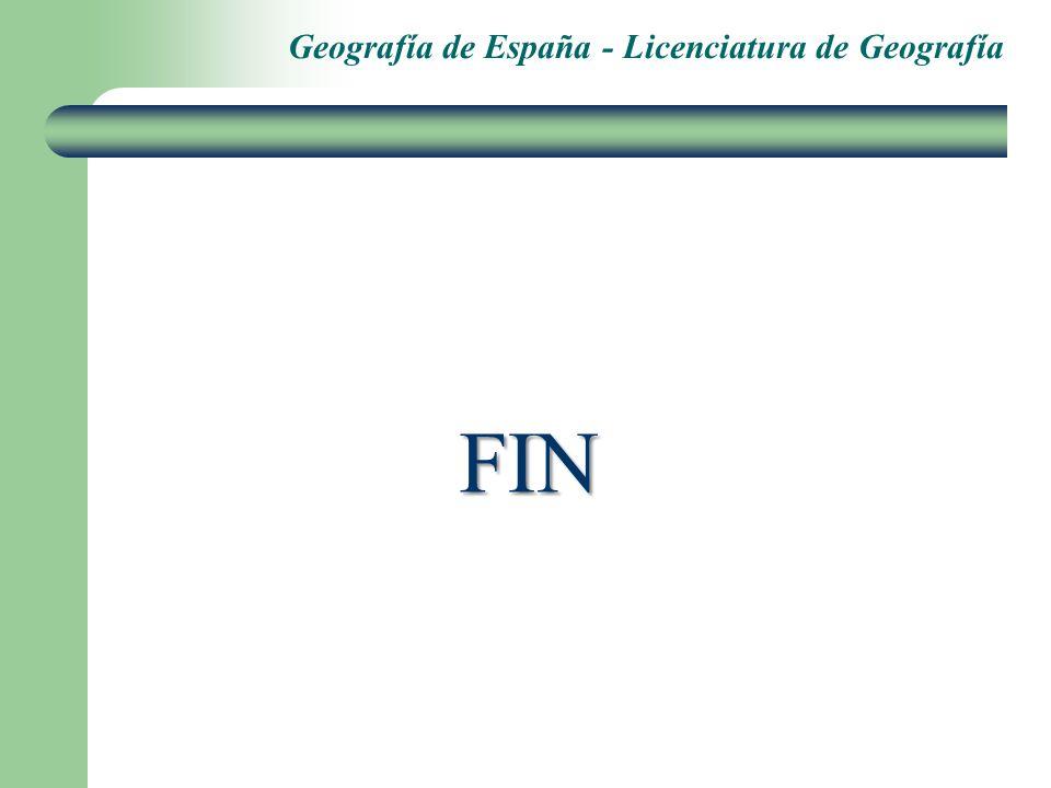 Geografía de España - Licenciatura de Geografía FIN