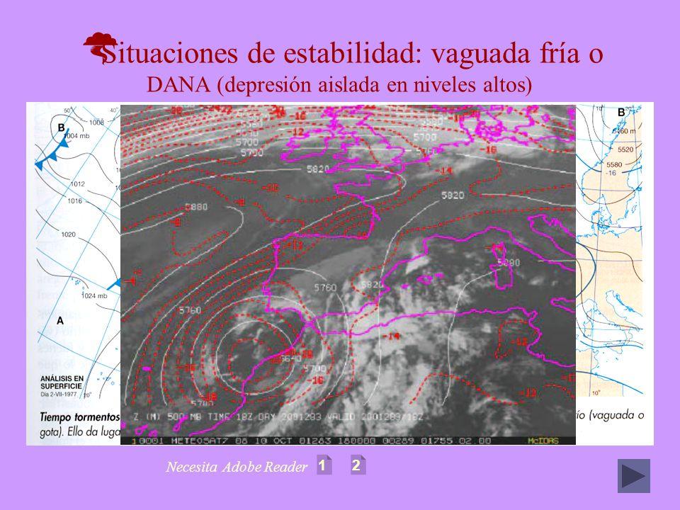 Situaciones de estabilidad: vaguada fría o DANA (depresión aislada en niveles altos) 12 Necesita Adobe Reader