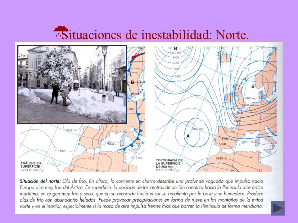 MEDITERRÁNEO Catalán Levantino Sudoriental Meridional Temperaturas Annual16º17º18º18,5º Máxima37º38º41,2º42,6º Mínima-2º-0,5º-1,5º3º Precipitaciones Media anual (mm)584410280545 Nieve (días)30,5 0