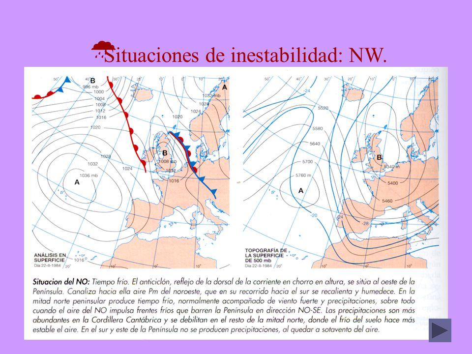 DEPRESIONES Cuenca del Ebro Cuenca del Guadalquivir Temperaturas Anual14,1º18,5º Máxima40º42,6º Mínima-2º5,5º Precipitaciones Media anual (mm)350533 Nieve (días)3,50,5