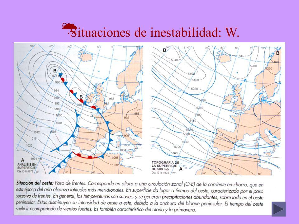 Situaciones de inestabilidad: W.