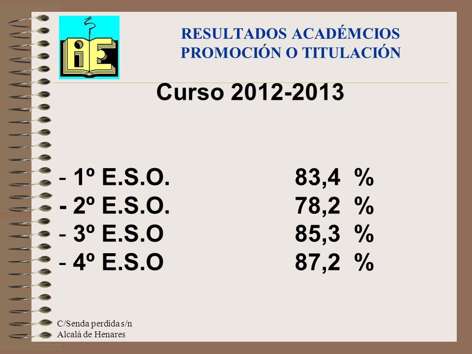 Curso 2012-2013 - 1º E.S.O.