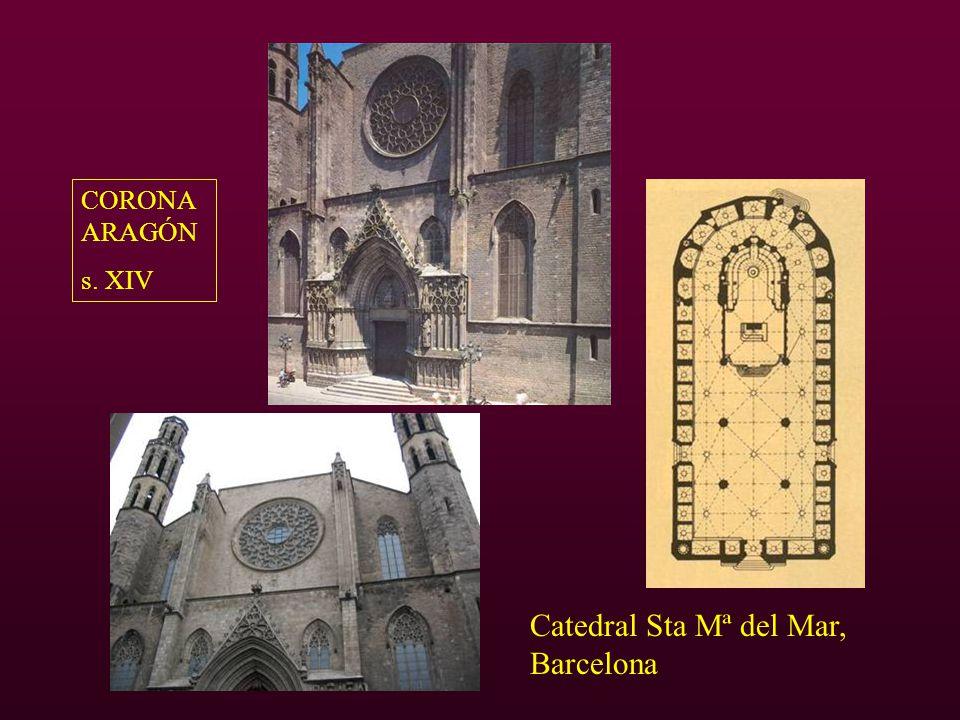 Catedral Sta Mª del Mar, Barcelona CORONA ARAGÓN s. XIV