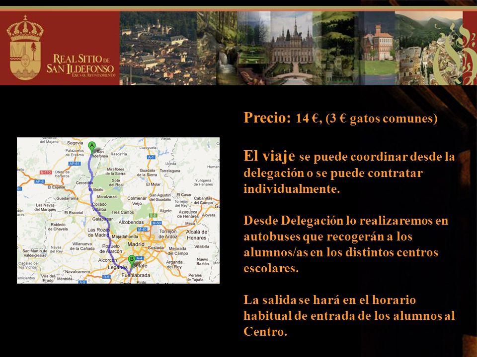 DATOS DE INTERÉS: Lugar: Real Sitio de la Granja de San Ildefonso. Día: Viernes, 26 de abril. Voluntarios: Organizarán los juegos. Profesores: Atendie