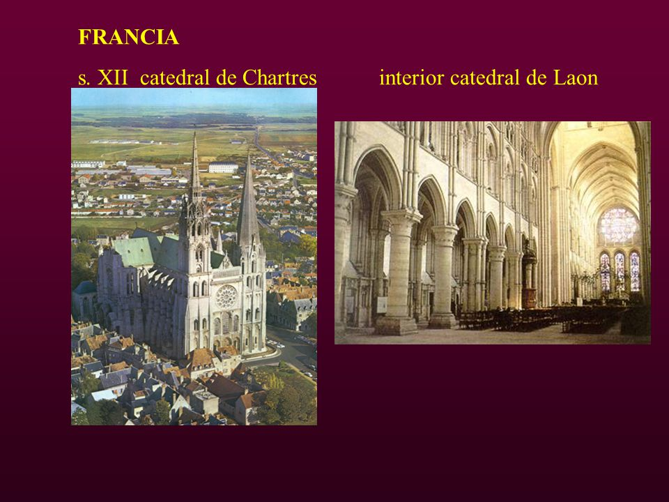 FRANCIA s. XII catedral de Chartres interior catedral de Laon