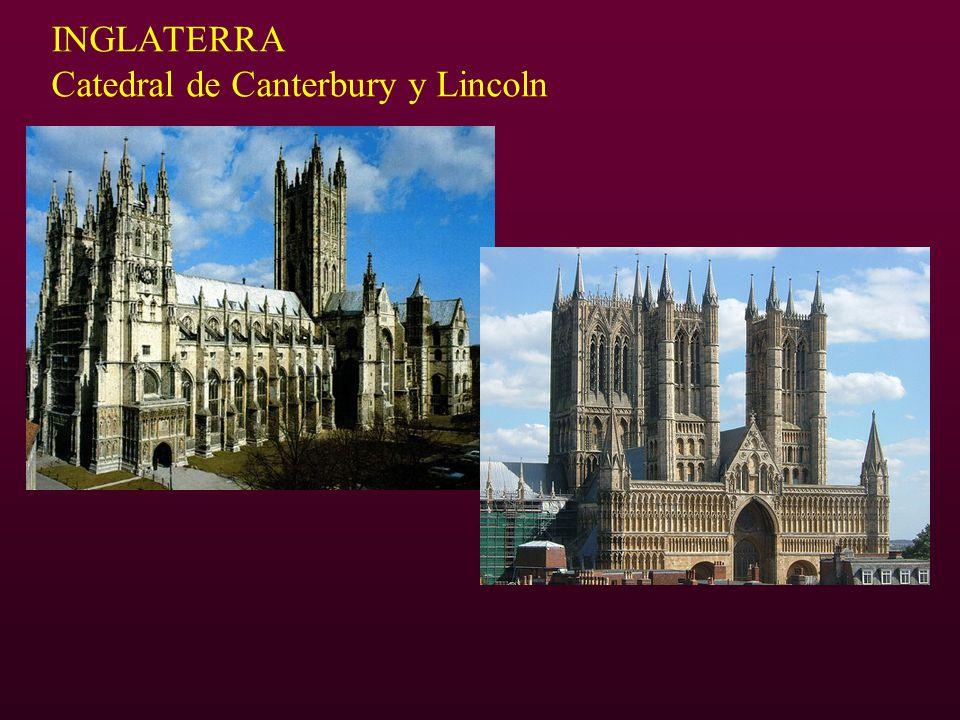 INGLATERRA Catedral de Canterbury y Lincoln