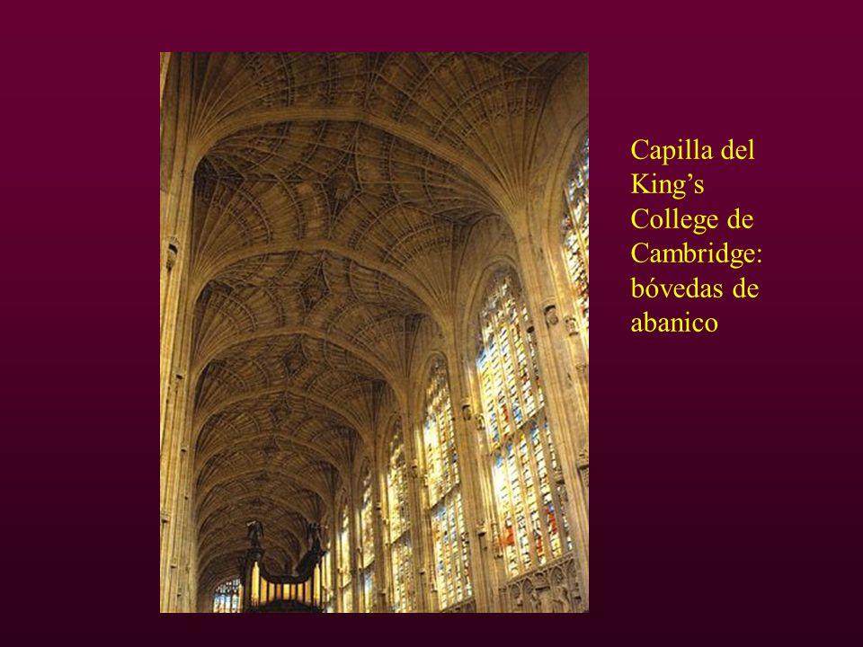 Capilla del Kings College de Cambridge: bóvedas de abanico
