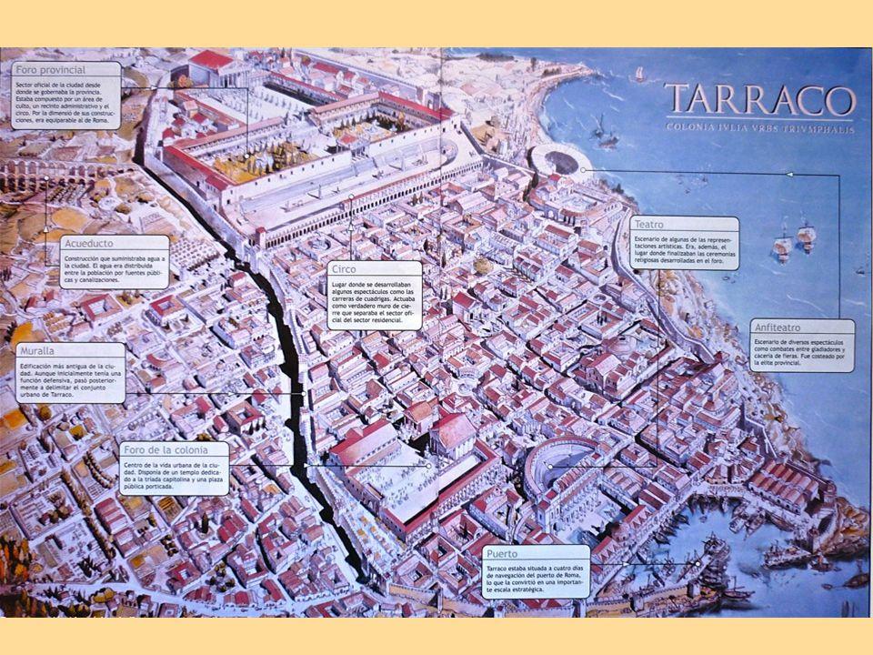 Foro provincial A partir de Augusto, Tarraco se convirtió en capital de la Hispania citerior.
