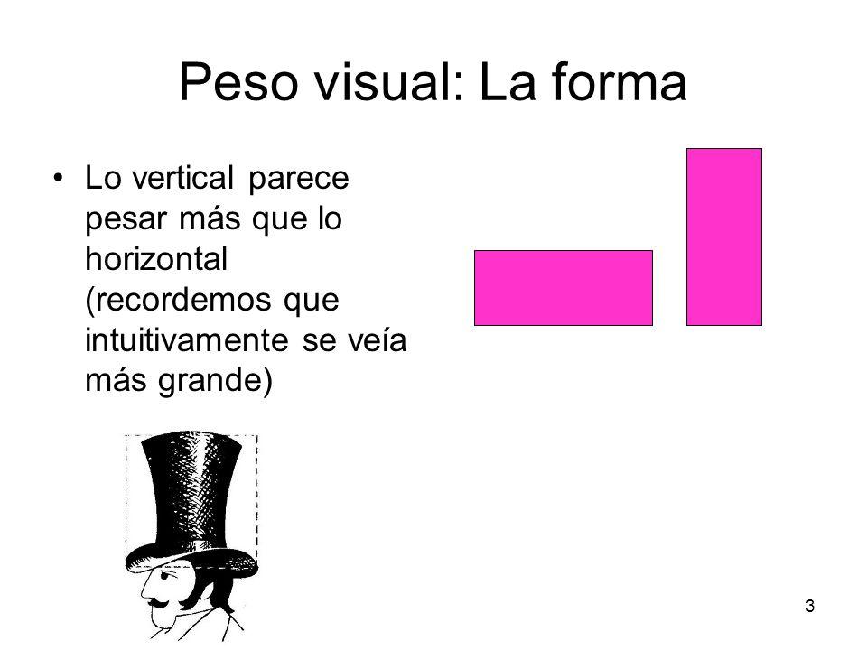 4 Peso visual: La forma Las formas regulares tienden a poseer más peso que las irregulares