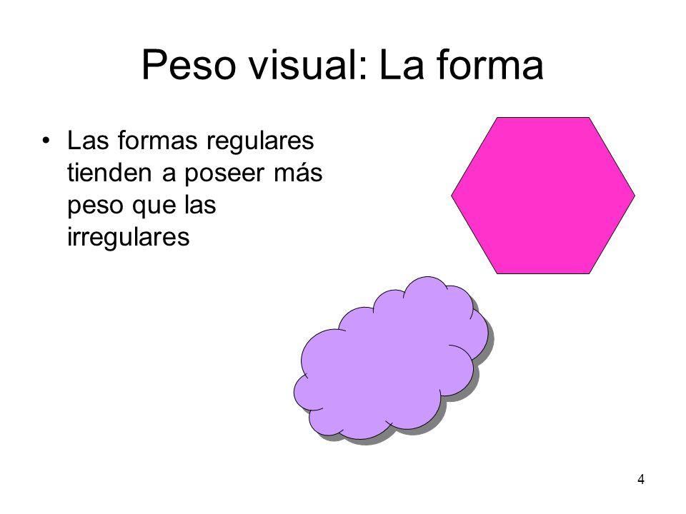 5 Peso visual: Tamaño Tiene habitualmente más peso lo mayor