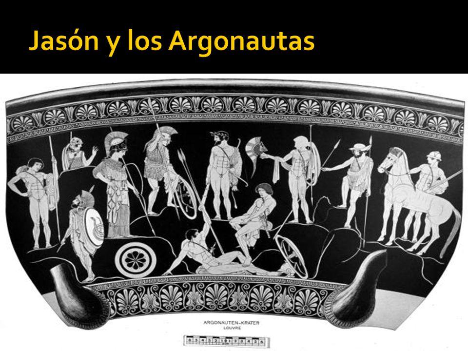 Jasón solicitó entonces la ayuda de Argos, hijo de Frixo, y, por consejo de Atenea, construyó la nave Argo, que había de conducir a la Cólquide a Jasón, acompañado de un grupo de unos cincuenta héroes griegos, que tomaron el nombre de Argonautas, Los mejores guerreros de la grecia de su época Argo