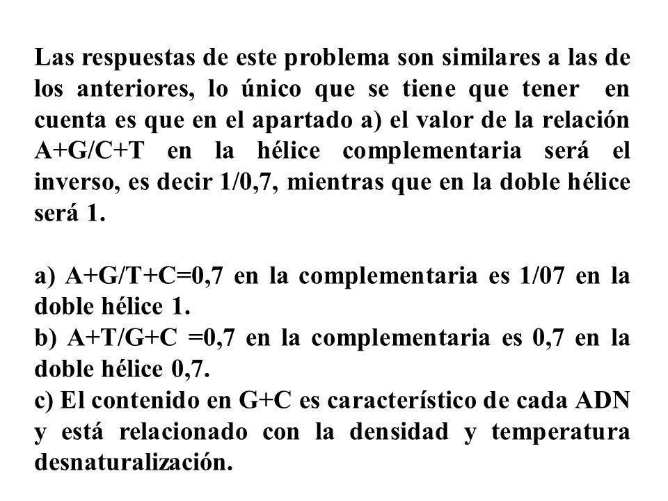 Las respuestas de este problema son similares a las de los anteriores, lo único que se tiene que tener en cuenta es que en el apartado a) el valor de