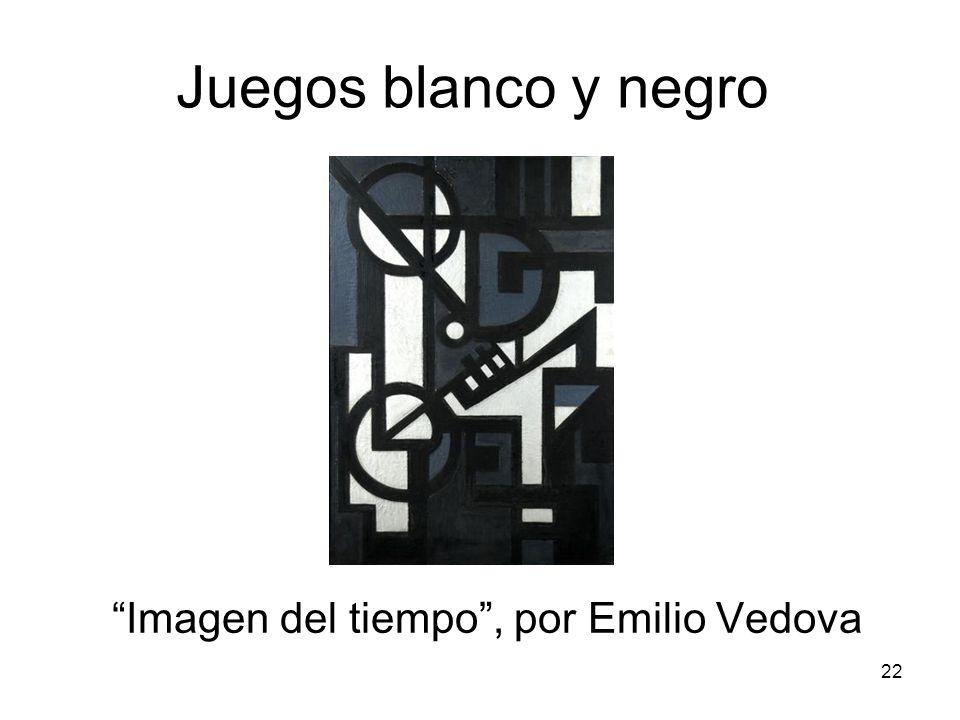 22 Juegos blanco y negro Imagen del tiempo, por Emilio Vedova
