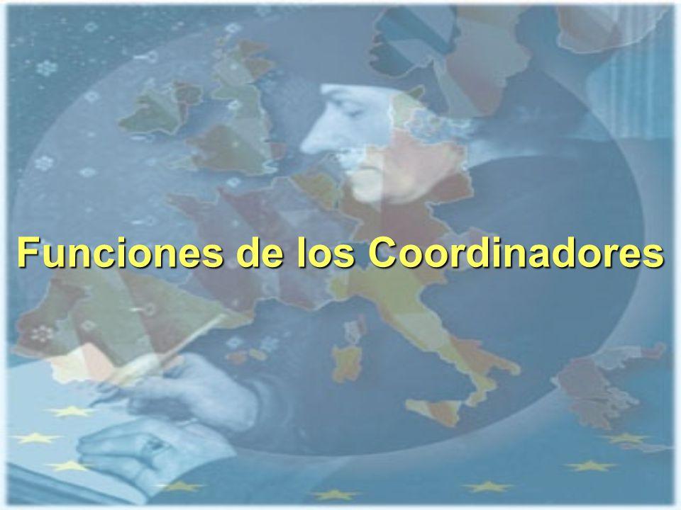 Funciones de los Coordinadores en los centros Tipos de coordinadores: Coordinador ECTS de la Titulación Coordinador ECTS de la Titulación Coordinador académico de Intercambio Coordinador académico de Intercambio