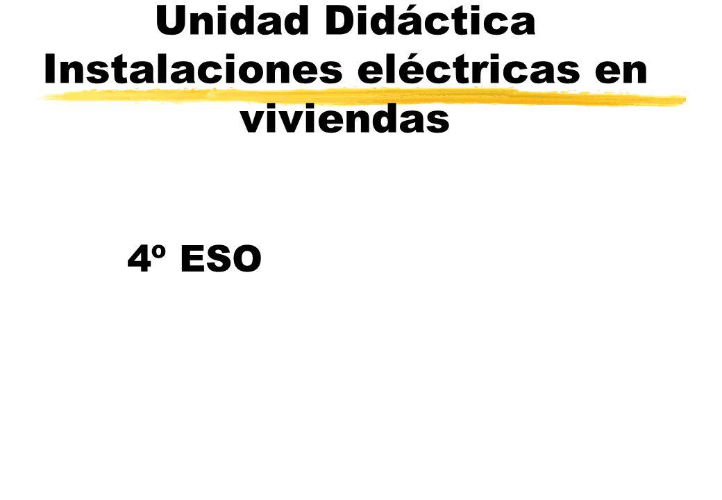 Unidad Didáctica Instalaciones eléctricas en viviendas 4º ESO