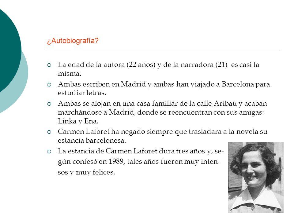 ¿Autobiografía? La edad de la autora (22 años) y de la narradora (21) es casi la misma. Ambas escriben en Madrid y ambas han viajado a Barcelona para