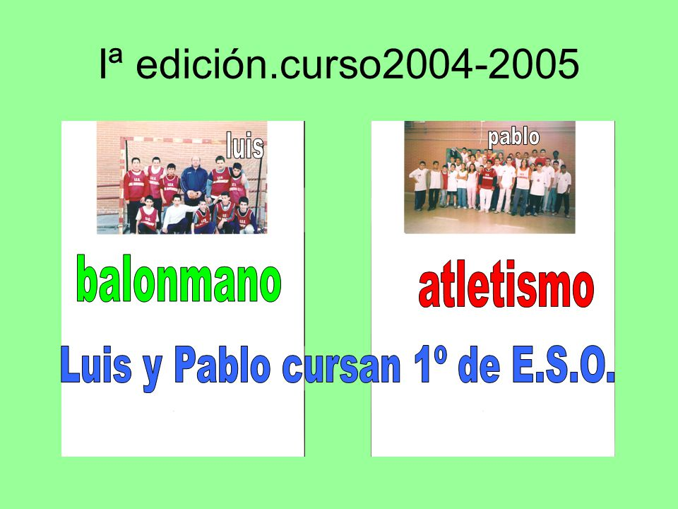 Iª edición.curso2004-2005