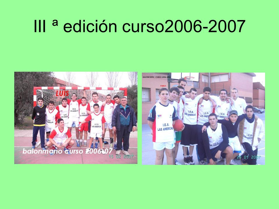III ª edición curso2006-2007