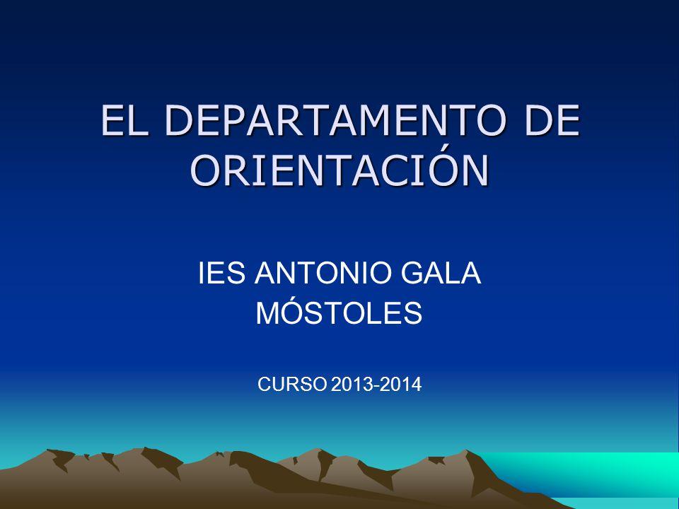 ÍNDICE COMPOSICIÓN Curso 2013-14COMPOSICIÓN OBJETIVOS FUNCIONES PLAN DE ATENCIÓN A LA DIVERSIDAD (PAD) ALUMNADO CON NECESIDADES DE COMPENSACIÓN EDUCATIVA (ANCE) PLAN DE ACCIÓN TUTORIAL (PAT) PLAN DE ORIENTACIÓN ACADÉMICA Y PROFESIONAL (POAP) COORDINACIÓN EXTERNA Y ACTIVIDADES COMPLEMENTARIAS Y EXTRAESCOLARES PROGRAMAS: Alumnado con trastorno generalizado del desarrollo (TEA) : Aula 10 Diversificación Curricular (PDC) Integración (ACNEES) Programas de Educación COMPENSATORIA Programas de Educación COMPENSATORIA OTROS PROGRAMAS (no se desarrollan en nuestro IES): Programas de Cualificación Profesional Inicial OTRAS ACTIVIDADES DEL DO