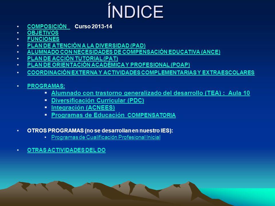 COMPOSICIÓN Curso 2013-14 oDos orientadores: Ángeles Sánchez Martín (primer ciclo de ESO y 2º de bachillerato) y Vanesa Villalba (segundo ciclo de ESO y 1º de bachillerato).