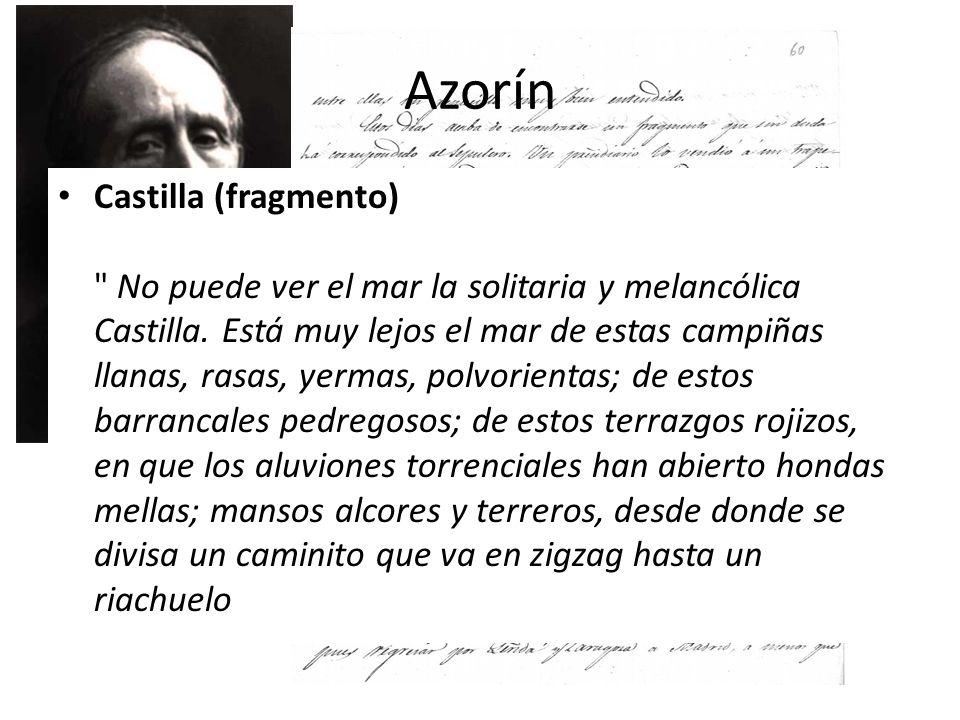 Azorín Castilla (fragmento)