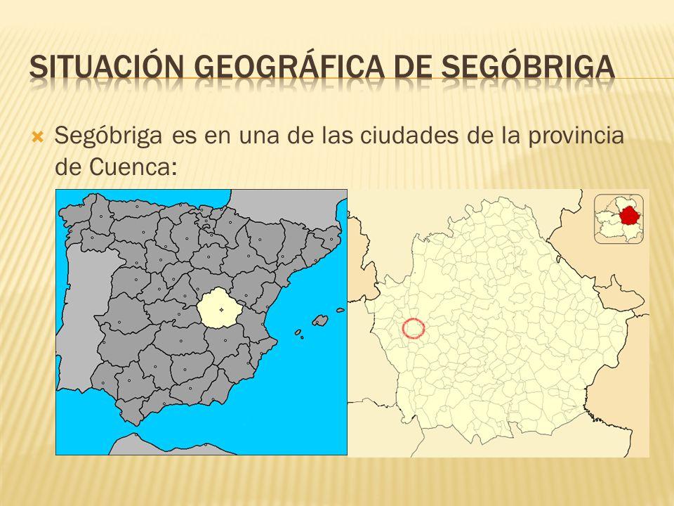 Segóbriga es en una de las ciudades de la provincia de Cuenca: