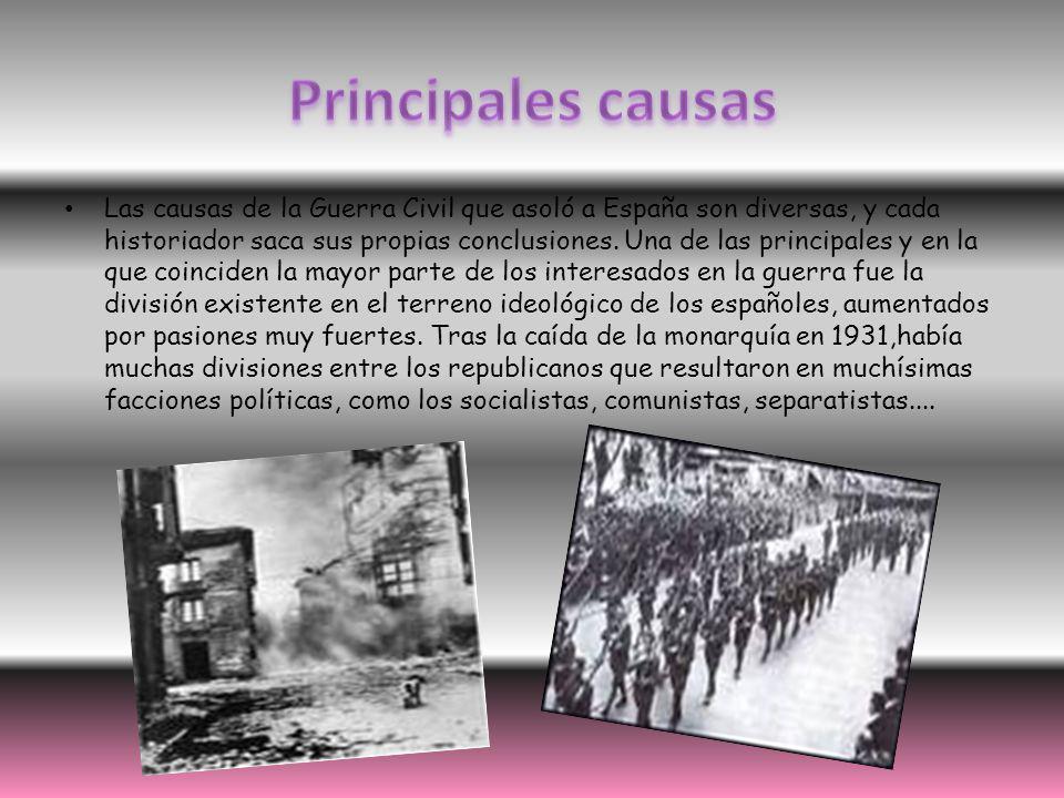 Las causas de la Guerra Civil que asoló a España son diversas, y cada historiador saca sus propias conclusiones. Una de las principales y en la que co
