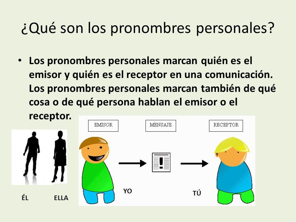 ¿Qué son los pronombres personales.